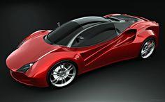 Ferrari Red Concept Wallpaper | HD Car Wallpapers