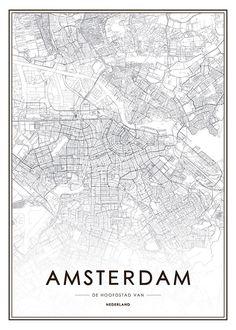 Poster med Amsterdam-Motiv