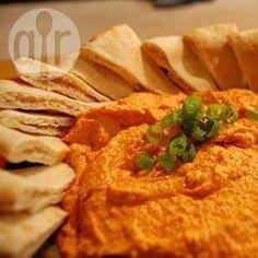 Scharfes Hummus mit roten Paprika @ de.allrecipes.com