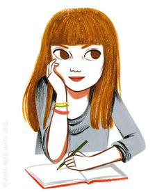An Empty Page illustration by Julia Bereciartu. Mod Girl, Creative Portraits, Illustration Girl, Illustrations, Cute Art, Art For Kids, Book Art, Character Design, Fancy