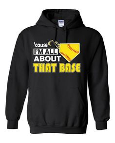 Cause I'm All About That Base Girls Softball Hoodie