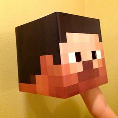 Minecraft Head Kit Costume kit includes full color by LemurApps