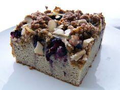 grain free blackberry cream cheese coffee cake (swap out shortening)