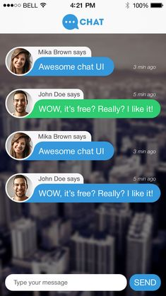 Chat - very nice but interesting to see what happens when the message becomes more than a single line.