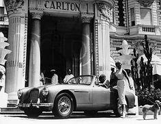 Aston Martin DB2-4 outside the Hotel Carlton, Cannes, France 1955 - Aston