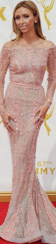Giuliana Rancic in Zuhair Murad 2015 Emmy Awards