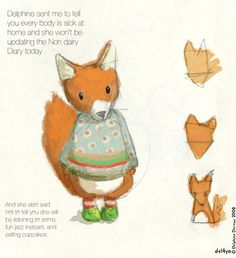 Le lapin dans la lune - Non dairy Diary - That foxagain