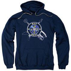 Kiss Navy Logo Mens Pullover Hoodie - http://bandshirts.org/product/kiss-navy-logo-mens-pullover-hoodie/