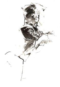 Robert Heindel - Cats. Skimbleshanks sketch