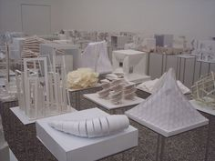 a collection of interesting concept models, showing the diversity paper and card can have.
