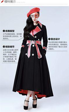 我的新衣 轻礼服主题 ZHANGSHUAI 张帅 《穿prada的女王》范冰冰同款 绑住你心 复古趣味印花双排扣大衣 - ZHANGSHUAI…