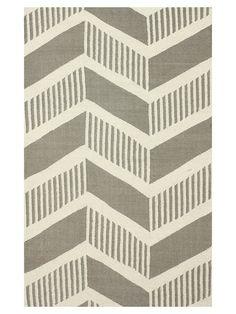 nuLOOM tegan striped chevron handmade rug