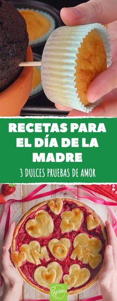 ¡3 recetas que cada madre amará en su día! #riquisimo receta #recetas #ideas #tarta #tortas #cakes #diadelamadre #madre