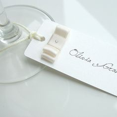 Vintage Wedding Reception Decor Double Bow Name by Design4Eternity