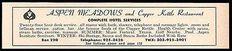 Aspen Meadows Hotel Ad Aspen Colorado Restaurant Ski 1964 Roadside Ad Travel