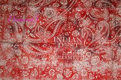 Indian Dust - Paisley Hermes Scarf