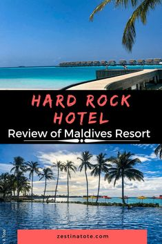 Looking for a Maldives beach resort for a family vacation? Something easily accessible from Male airport. The Hard Rock Hotel in Maldives is a great with luxury accommodation, superb food and activities options. #maldives #beachresort #beachhotel #review Beach Hotels, Beach Resorts, Maldives Beach Resort, Hard Rock Hotel, Asia Travel, Weekend Getaways, Travel Guides, Family Travel, Around The Worlds