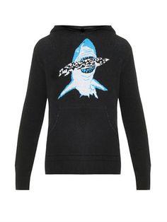Baja East Shark hooded cashmere sweater