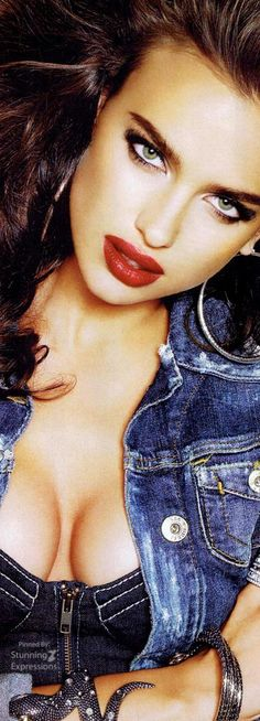 Irina Shayk, the power of a red pout
