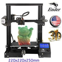 US Creality Ender-3 3D Printer High-precision 220x220x250mm Large Resume Print