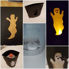 Halloween Milk Carton or bottle lanterns