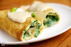 Fresh Spinach & Vegan Ricotta Crespelle   #vegan via Vegalicious