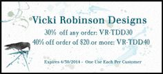 Exclusive coupon for Vicki Robinson digital scrapbook supplies.