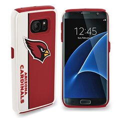 NFL Dual Hybrid TPU Samsung Galaxy S7 Rugged Case - Retail Packaging - Arizona Cardinals