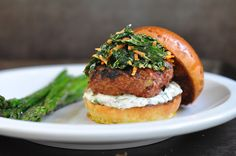 turkey burgers with cilantro-lime mayonnaise and kale slaw