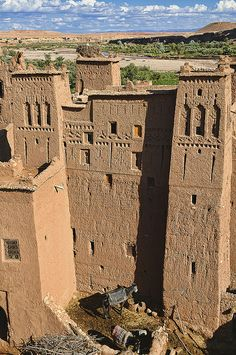 The ancient kasbah of Ait Benhaddou UNESCO World Heritage Site, Morocco by jitenshaman, via Flickr