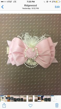 Diadema de lazo rosa bebé seda. Dollcake diadema. por GiuliaCouture