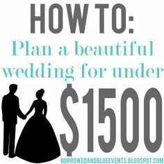 A wedding for under $1500