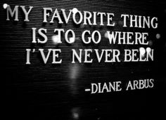 Where I've never been - Diane Airbus