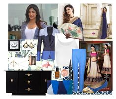 """""""Style icon: Shilpa Shetti"""" by sarah-m-smith ❤ liked on Polyvore featuring York Wallcoverings, ESCADA, Lost & Found, Paul Smith Black Label, L.K.Bennett, Sydney Evan, Elizabeth Arden, Maybelline, Bobbi Brown Cosmetics and Marc Jacobs"""