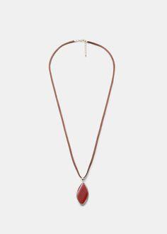 Halskette mit stein-anhänger | VIOLETA BY MANGO