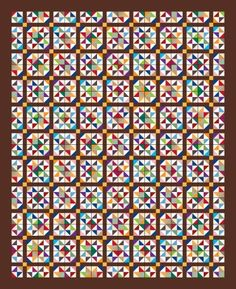 """Bonnie Hunter's block, Grandpa's Star, from her column """"Addicted to Scraps"""" in Quiltmaker's March/April '12 issue. Love how it looks in a quilt - deceiving too since the block is not the star."""