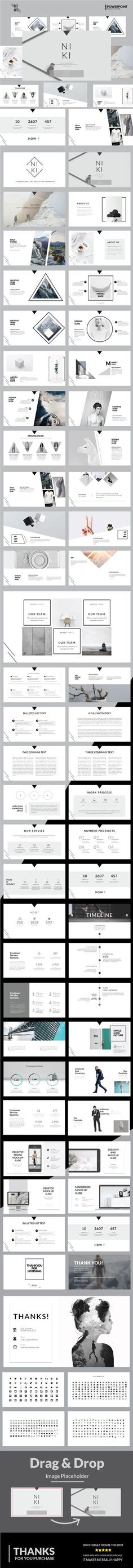 Niki Multipurpose Powerpoint Template - #Business #PowerPoint #Templates
