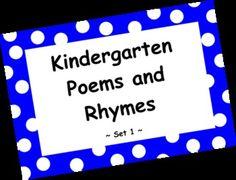 Kindergarten Poems and Rhymes Activities & Smartboard - Set 1 Seasonal Fall