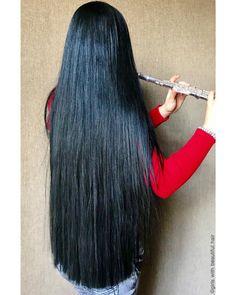 Just a half a inch Beautiful Long Hair, Gorgeous Hair, Amazing Hair, Long Dark Hair, Very Long Hair, Big Hair, Hair 24, Long Hair Video, Hair Shows