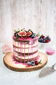 Were Drooling Over This Wildly Romantic Drip Layer Cake Thats Perfect for Your Bridal Shower via Brit + Co