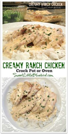Today I am sharing another tried and true chicken recipe that was a huge hit with my family, Creamy Ranch Chicken - also known as Cream Cheese Ranch Chicken. CREAMY RANCH CHICKEN (Crock Pot Or Crockpot Dishes, Crock Pot Slow Cooker, Crock Pot Cooking, Slow Cooker Recipes, Cooking Recipes, Healthy Recipes, Oven Recipes, Simple Crock Pot Recipes, Simple Chicken Recipes