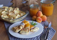 Blogevent Alpenküche: Topfenpalatschinken mit Marillensauce