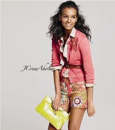 Liya Kebede in JCrew. She is my favorite model everrrr of all time and can do no wrong in my eyes. J Crew Outfits, Cute Outfits, Spring Summer Fashion, Spring Outfits, J Crew Style, My Style, J Crew Catalog, Liya Kebede, Classic White Shirt