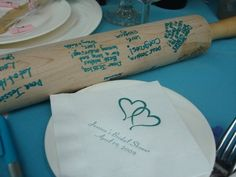 kitchen bridal shower guestbook- sign a rolling pin