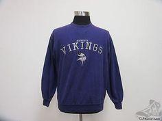 NFL Minnesota Vikings Crewneck Sweatshirt sz M Medium Sewn NFC Moss Mens vtg Vintage by TCPKickz on Etsy