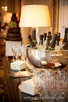 It's not a wedding without champagne!!  Photo by Picture This! Photography,     A Bride for All Seasons: A Bridal Event, 2013