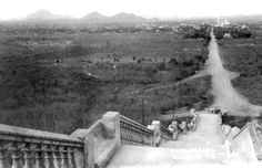 Culiacan, Sinaloa a long time ago.. this is La Lomita, a church where you can now see the entire city from