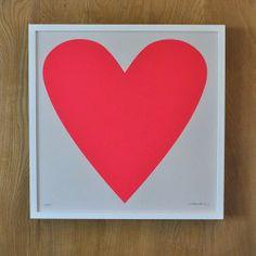 Fluoro Heart Print