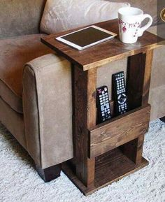 Storage for electronics and a place to sit your drink