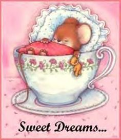 Good night mouse in a teacup Good Morning Good Night, Good Night Quotes, Night Pictures, Cute Pictures, Dream Pictures, Night Photos, Animal Drawings, Cute Drawings, Child Draw